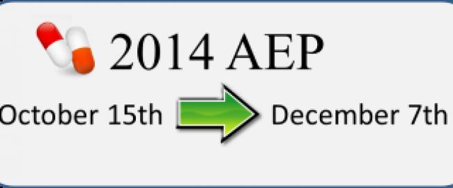 2014 Prescription Drug Coverage Annual Enrollment Period